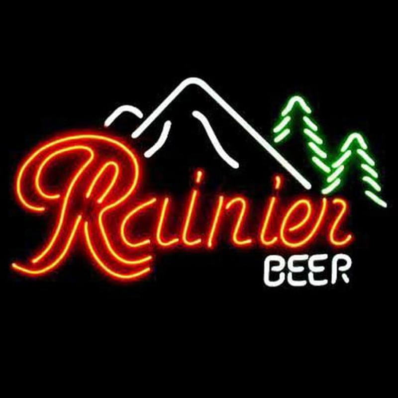 Professional Coors Deer Beer Bar Open Neon Signs: Rainier Beer Bar Neon Sign