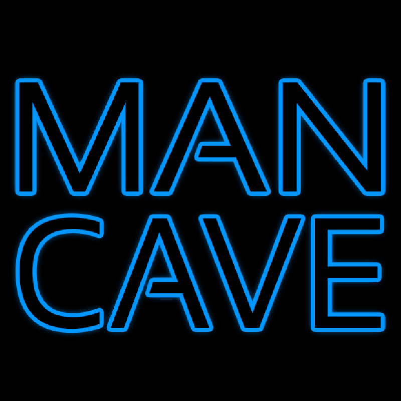 Blue Man Cave Neon Sign