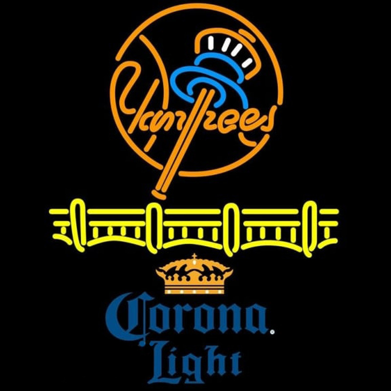 Corona Light Logo New York Yankees Beer Sign Neon Sign Neonsignsuk