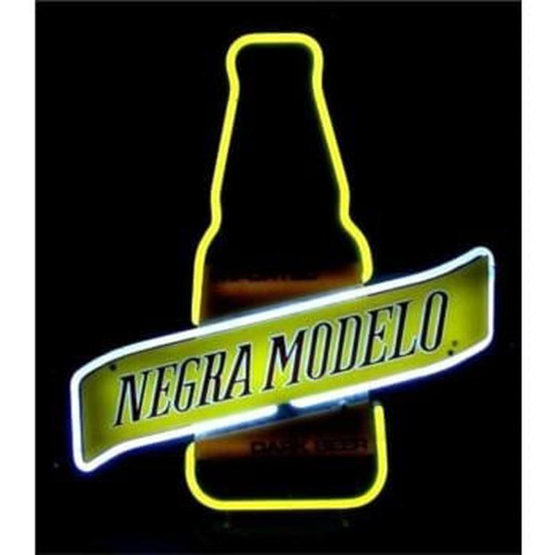 Negra Modelo Dark Beer Bottle Neon Sign - NeonSignsUK com
