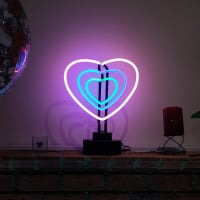 3 Hearts Desktop Neon Sign