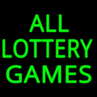 All Lottery Games Neon Sign