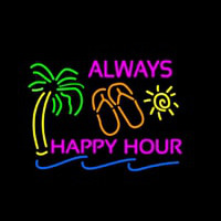 Always Happy Hour Neon Sign