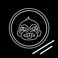 Angry Monkey Neon Sign