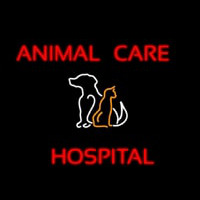 Animal Care Hospital Logo Neon Sign