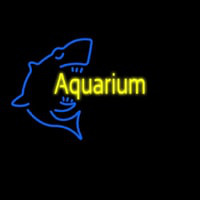 Aquarium With Shark Logo Neon Sign