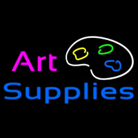 Art Supplies Neon Sign
