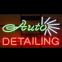 Auto Detailing Neon Sign