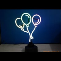Ballon Desktop Neon Sign