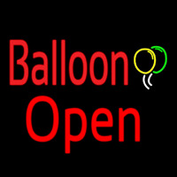 Balloon Open Red Neon Sign