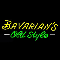 Bavarians Cursive Old Style Neon Sign Neon Sign