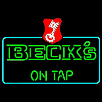 Beck On Tap Key Label Beer Neon Sign