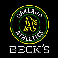 Becks Oakland Athletics Neon Sign