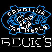 Becks Unc North Carolina Tar Heels Neon Sign