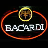 Big Bacardi Bat Rum Logo Pub Store Neon Sign