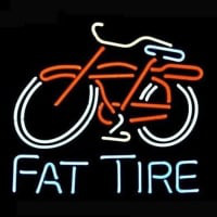 Big Fat Tire Bicycle Bike Logo Pub Neon Sign