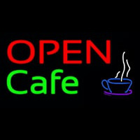 Block Open Cafe Neon Sign