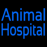 Blue Animal Hospital Neon Sign