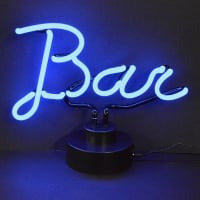 Blue Bar Desktop Neon Sign