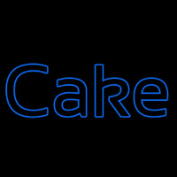 Blue Cake Neon Sign