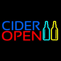 Blue Cider Open Neon Sign