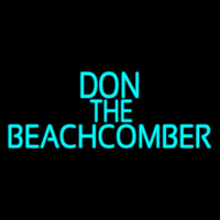 Blue Don The Beachcomber Tiki Bar Neon Sign