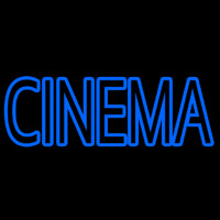Blue Double Stroke Cinema Neon Sign