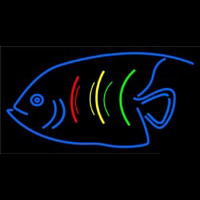 Blue Fish Logo Neon Sign