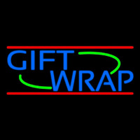 Blue Gift Wrap Neon Sign