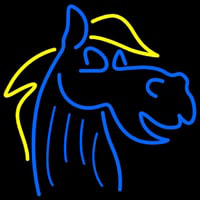 Blue Horse Logo Neon Sign