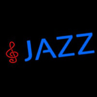 Blue Jazz With Note Neon Sign