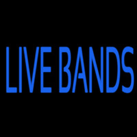 Blue Live Bands 2 Neon Sign