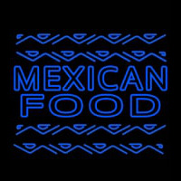 Blue Mexican Food Outdoor Neon Sign