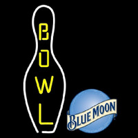 Blue Moon Bowling Beer Sign Neon Sign