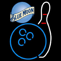 Blue Moon Bowling Blue White Beer Sign Neon Sign