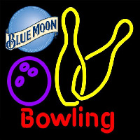 Blue Moon Bowling Yellow 16 16 Beer Sign Neon Sign