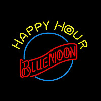 Blue Moon Classic Happy Hour Beer Sign Neon Sign