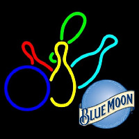 Blue Moon Colored Bowlings Beer Sign Neon Sign