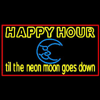 Blue Moon Happy Hour Till Beer Sign Neon Sign