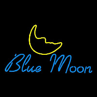 Blue Moon Italic Beer Sign Neon Sign