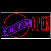 Blue Moon Red Open Beer Sign Neon Sign