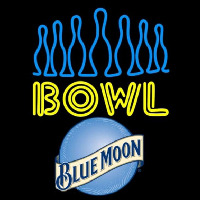 Blue Moon Ten Pin Bowling Beer Sign Neon Sign