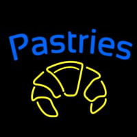 Blue Pastries Logo Neon Sign