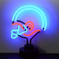 Blue Red Football Helmet Desktop Neon Sign