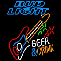 Bud Light And Drink Guitar Beer Sign Neon Sign