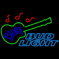Bud Light Blues Guitar Beer Sign Neon Sign