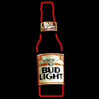 Bud Light Bottle Beer Sign Neon Sign