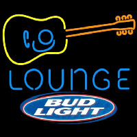 Bud Light Guitar Lounge Beer Sign Neon Sign
