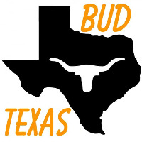 Bud Te as Map Longhorn Beer Sign Neon Sign