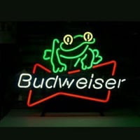 Budweiser Beer Frog Neon Sign